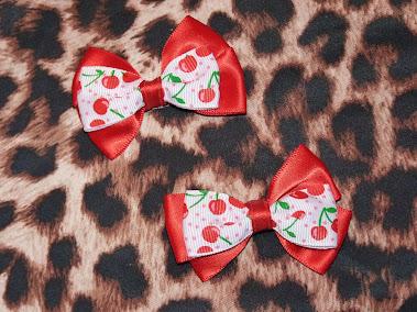 cherry bow haircandy