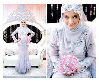 baju pengantin muslimah bertudung labuh i4 Kumpulan Busana Pengantin Muslimah Terbaru
