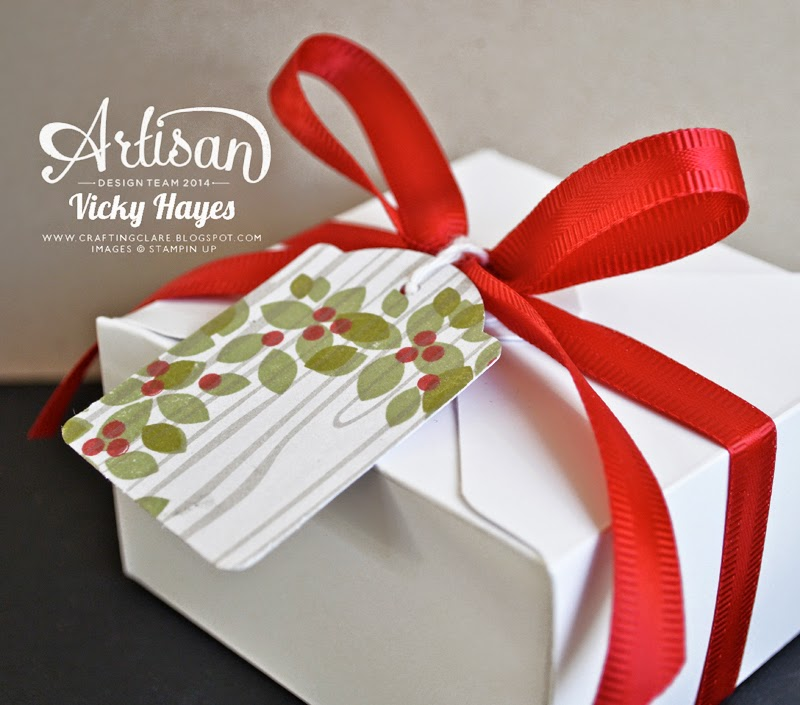 Using Stampin' Up's Note Tag punch to coordinate gifts