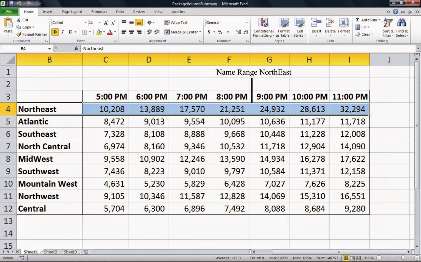 Named Ranges Excel 2013  Name The Range In Excel Name Range Di Microsoft  Excel