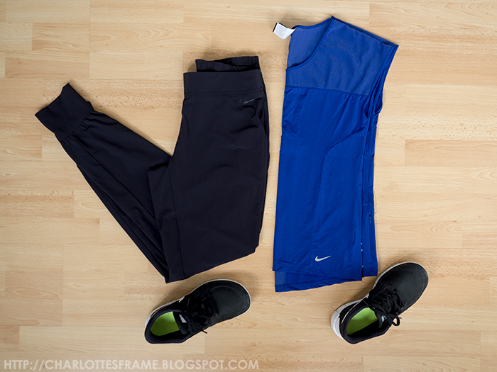 Nike Woven Bliss Training Pants, Nike Dri-FIT Ultralite Running Shirt, Nike Free 5.0 2015.