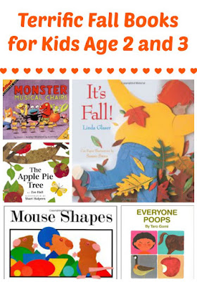 Fall book recommendations for kids age 2 and 3
