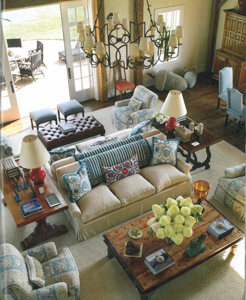 Ideas and inspiration for creative living arranging - Large living room furniture placement ...