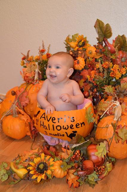 babies in pumpkin, babies, pumpkins, fall decorations