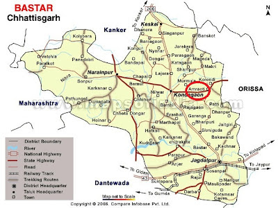 Map chhattisgarh