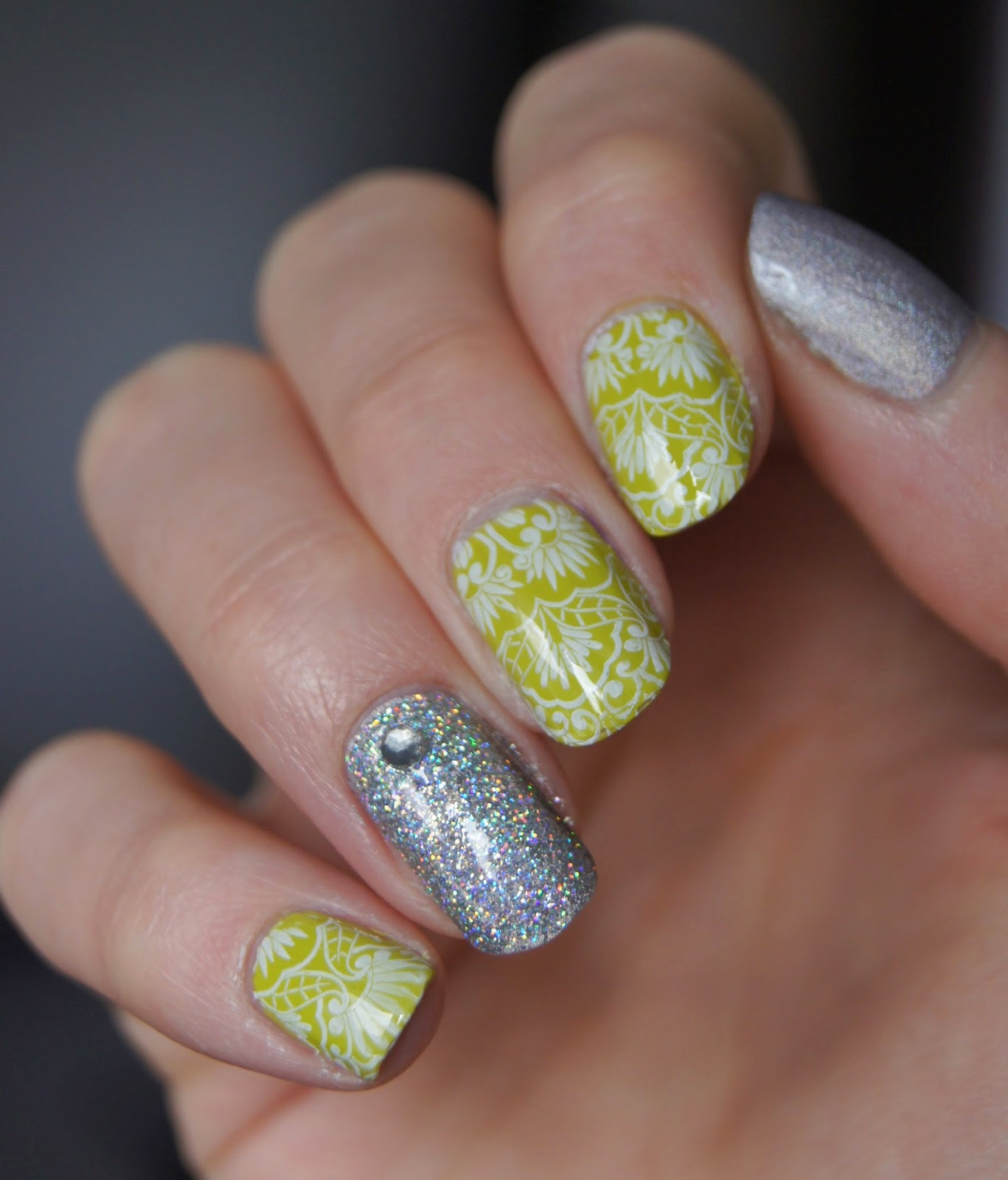 nail art stamping paillettes