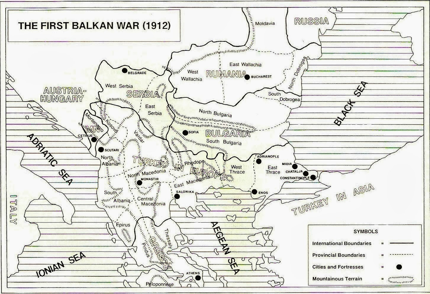 wargaming miscellany  matrix game  the balkan wars