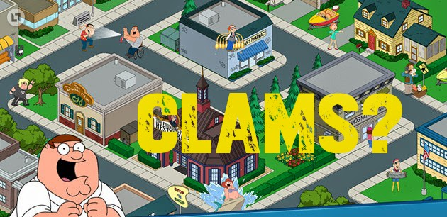 Family Guy Quest for Stuff: How to get clams and warning about using cheats