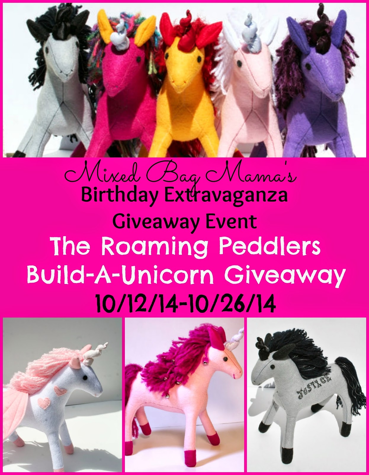 Enter the Build-A-Unicorn Giveaway. Ends 10/26.