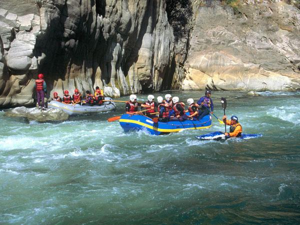 Rápidos en Cañon del río Apurímac