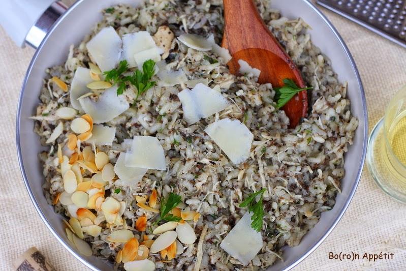 risotto z kurczakiem i truflami