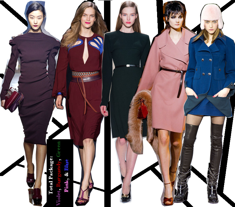 Women's Fall 2013/2014 Trends- Colorful colors of the season