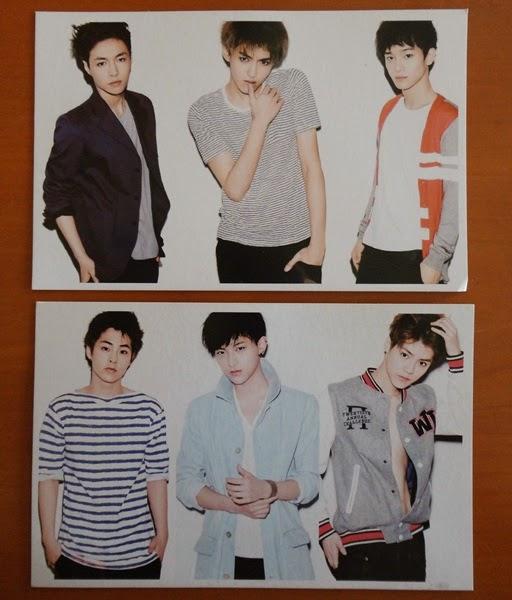 Poskad Artis Korea Exo, gambar EXO, poskad EXO