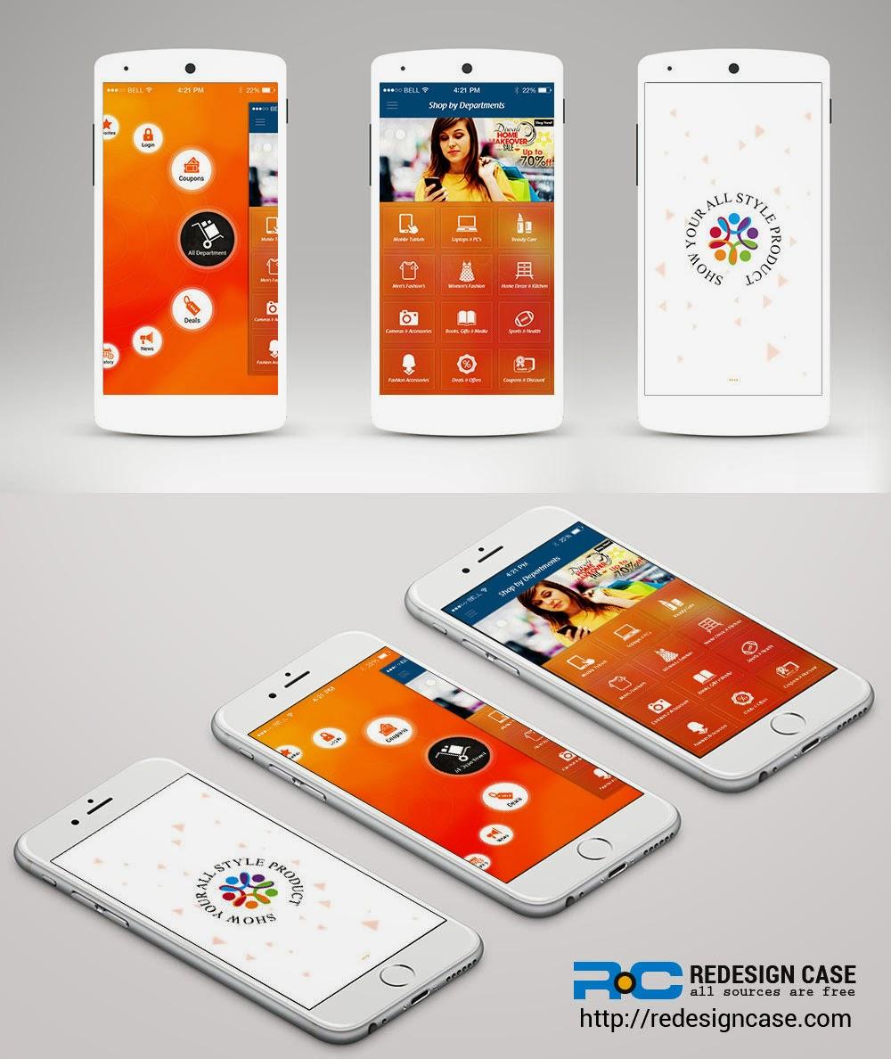 Shopping Ecommerce App UI PSD