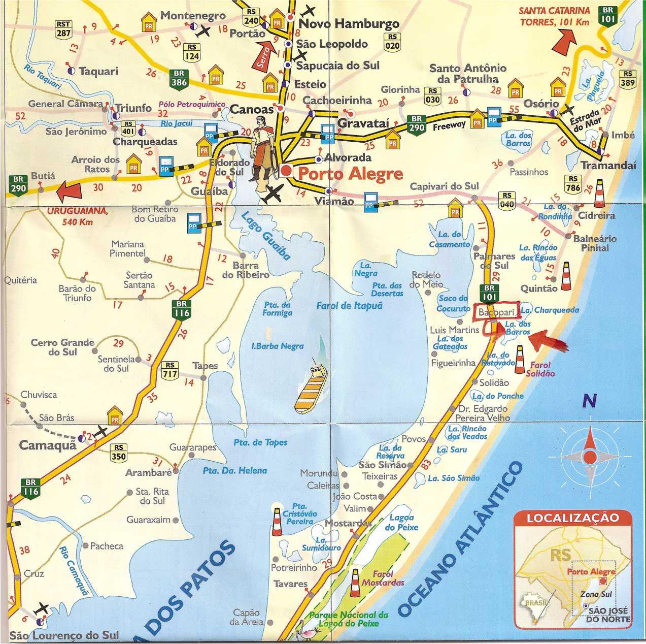 Mapas de Porto Alegre  RS  MapasBlog