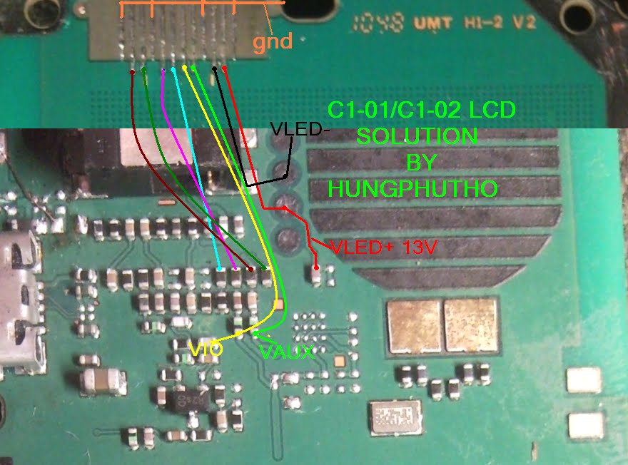 Nokia C1-01 LCD Display Light IC Solution Jumper Problem Ways