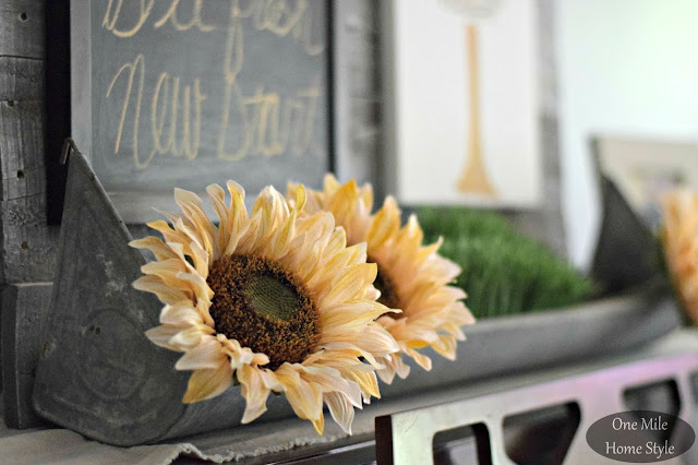 Word of the Year 2016: Simplify | One Mile Home Style - White Sunflower Vintage Display