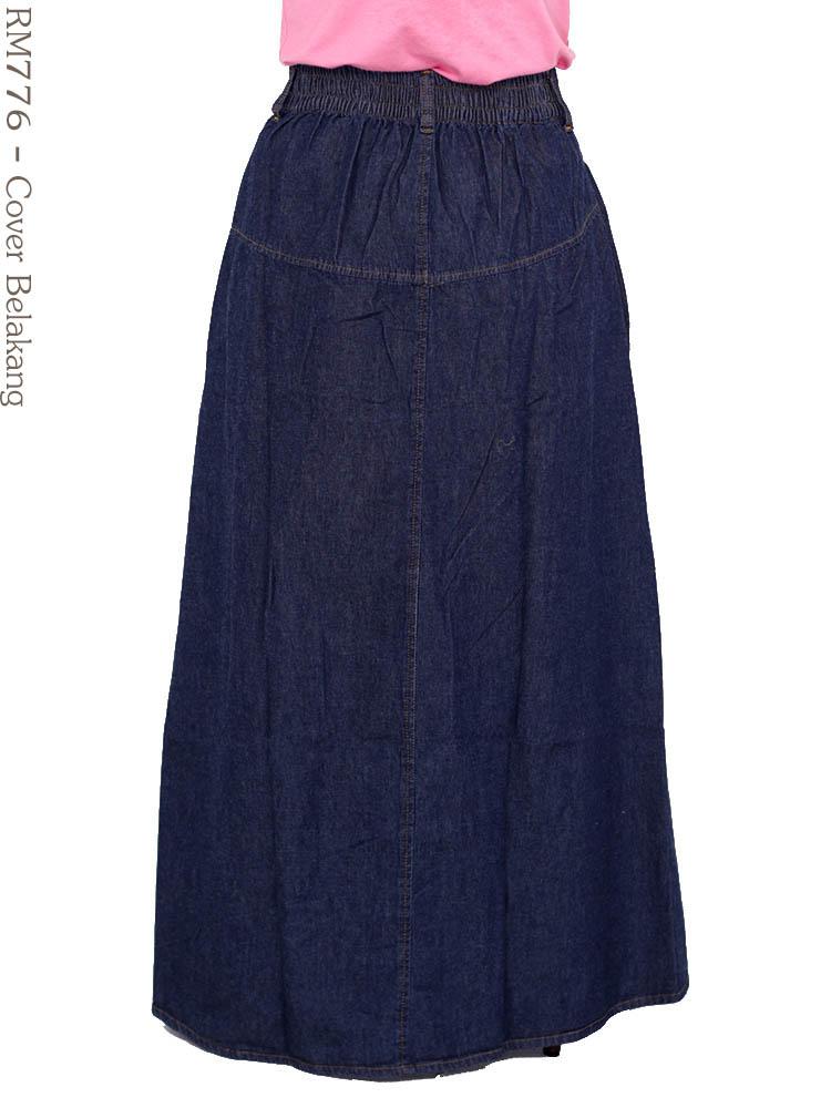 Rok jeans muslimah rm776 busana muslim murah terbaru Suplier baju gamis remaja harga pabrik bandung