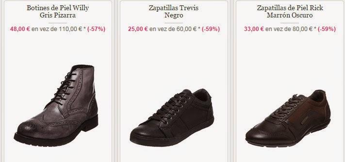 Ejemplos de botines y zapatillas en oferta para hombe de Kaporal