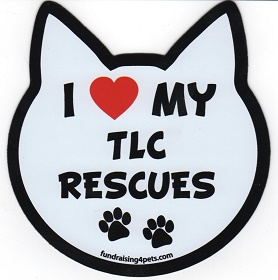 LOVE MY TLC RESCUES MAGNET!