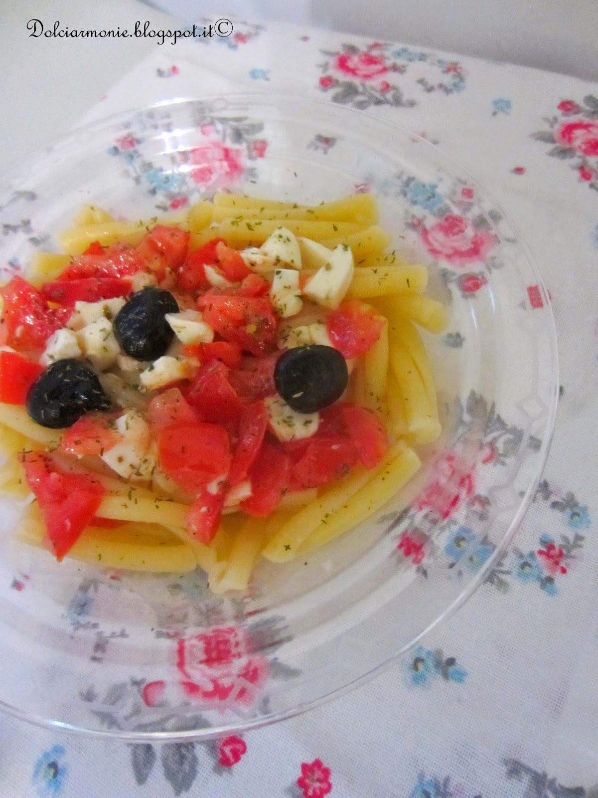 insalata di pasta mediterranea, i 500 e il provino della famiglia della pasta !!!