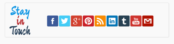cool animated stay in touch social widget for blogger