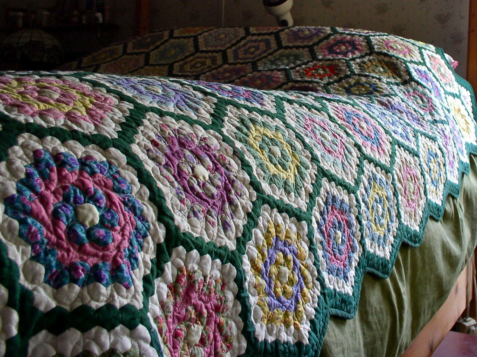 Luann Kessi Grandmothers Flower Garden On The Bed