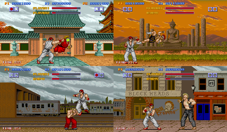 how to play street fighter 1