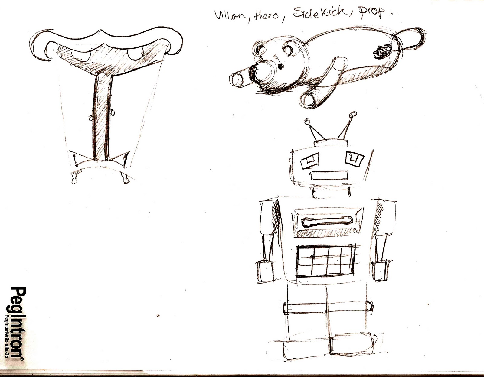 Character Design Session : Sharples designs week props and inanimate becoming