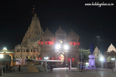 All lit up Somnath Temple