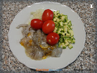 Ragout con canocchie e zucchine