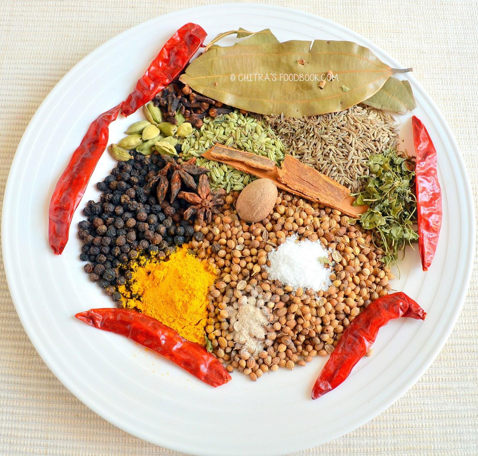 Chitra 39 s food book cooking basics - Garam masala recette ...