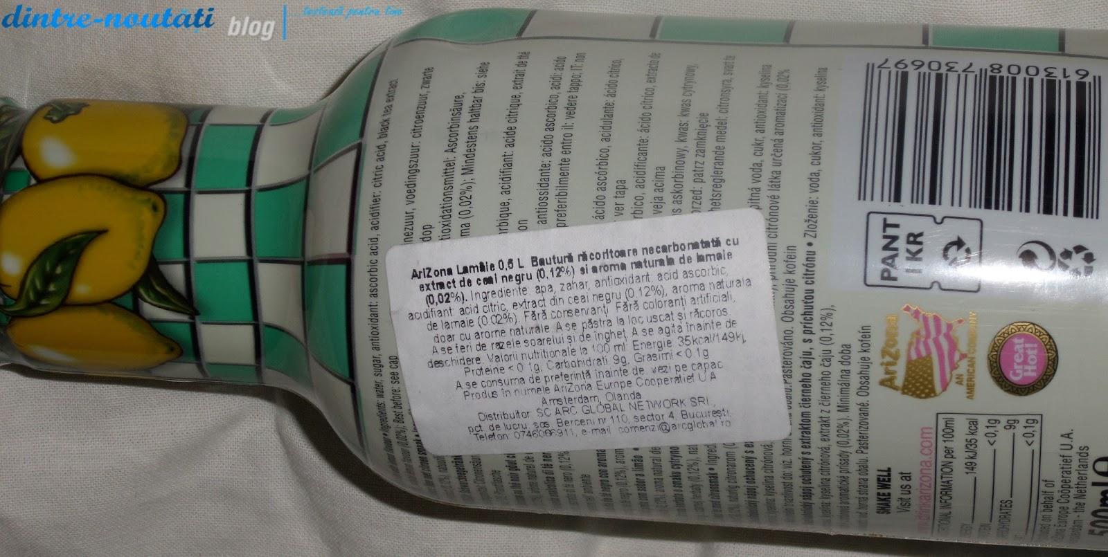 ceai arizona cu lamaie