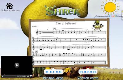 "Shrek, ""I'm a believer"""