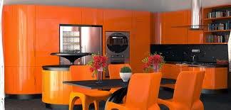 Cocinas modernas color naranja colores en casa - Combinar color naranja decoracion ...