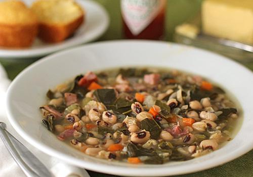 Soup Black Eyed Peas Black-eyed Pea And Collard