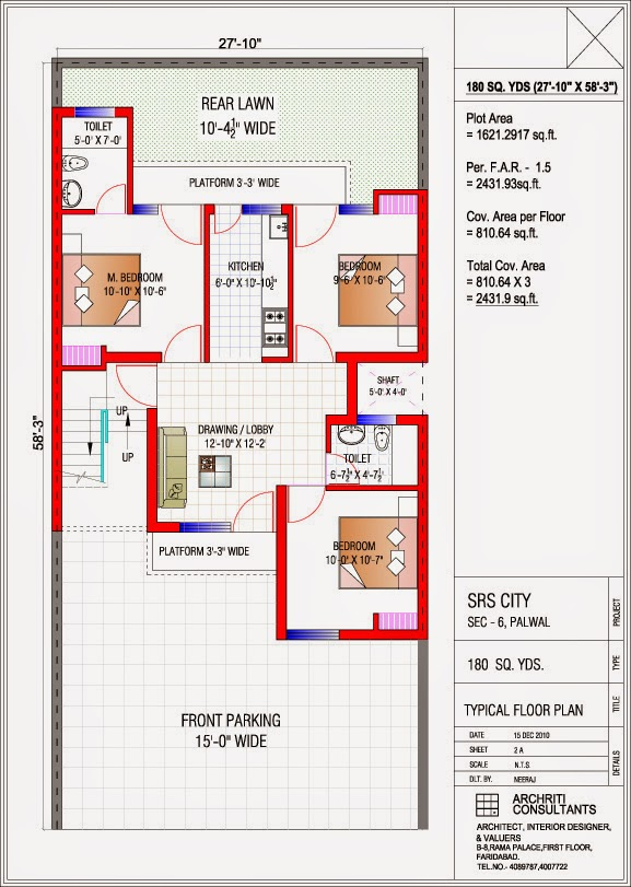 180 Sq.yd. Floor plan