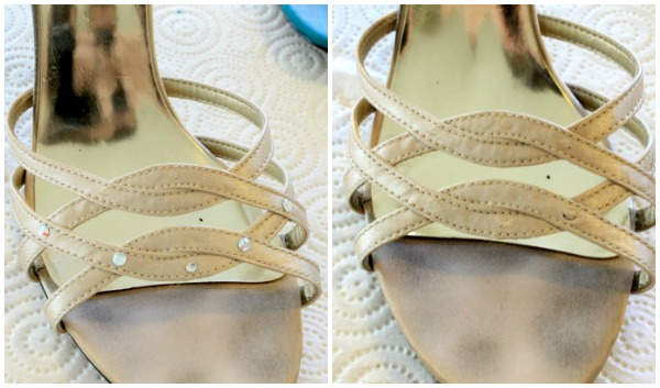 Wedding shoes sitting in the closet? Use them again with this easy paint diy! #makeover