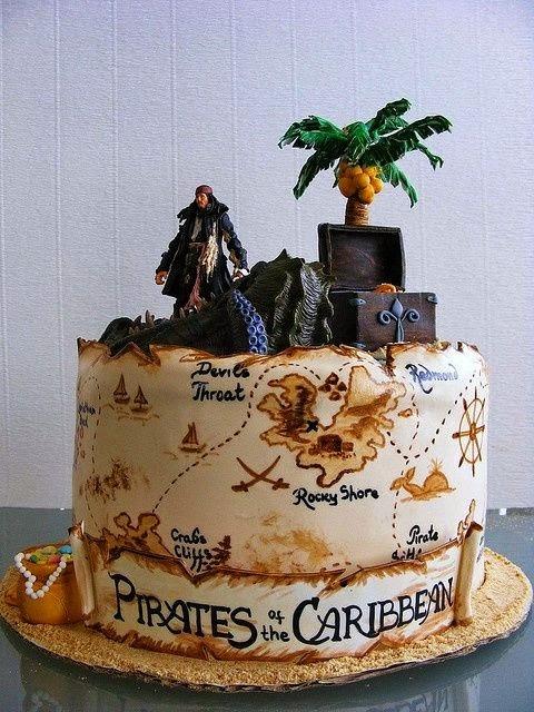 Tortas Piratas del Caribe, parte 1