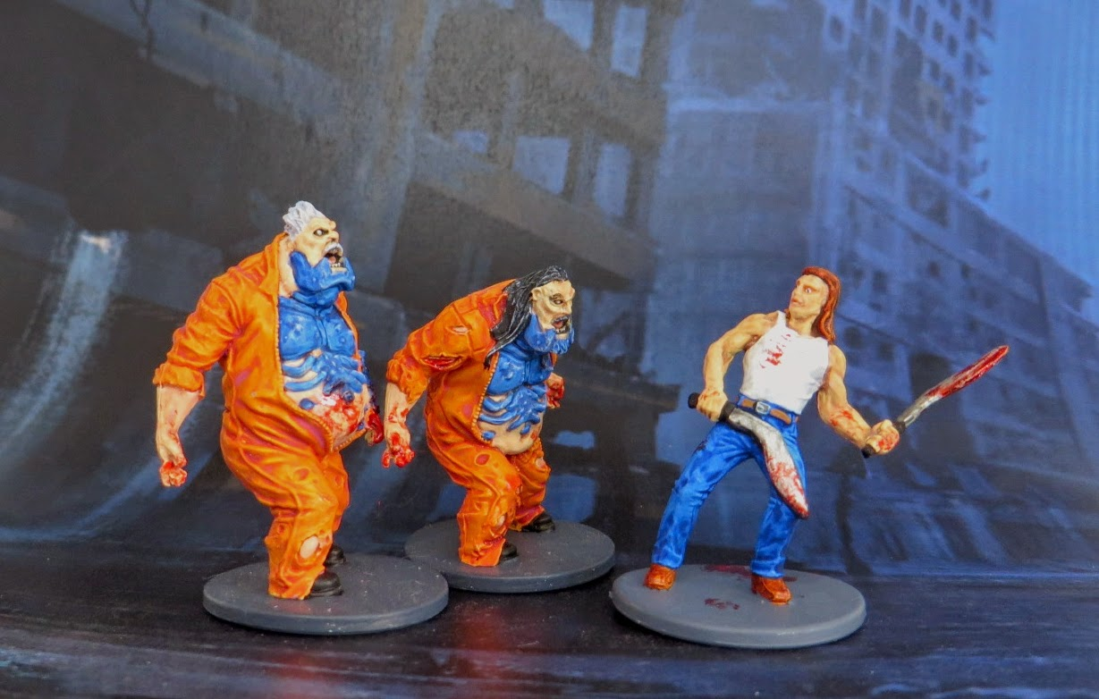 Zombicide, Toxic, zombie, prison, outbreak, fatty, painted