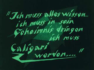 Intertítulo poco antes del final de la cinta Das Cabinet des Dr. Caligari