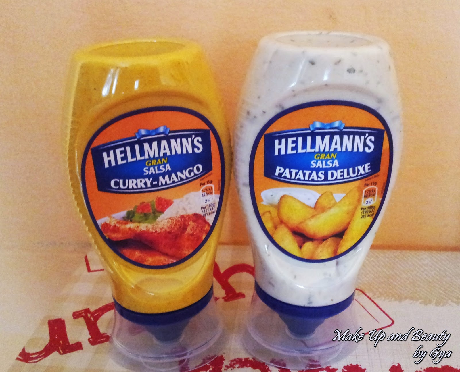 Salsa Hellmann´s Curry-Mango y Patatas Deluxe