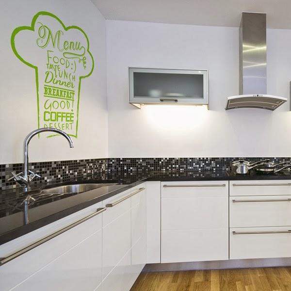 Papel pintado vinilos decorativos cocina for Cocinas online