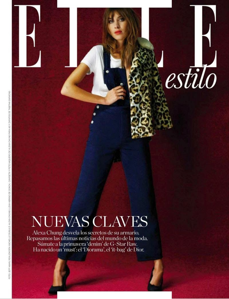 TV Host, Fashion Model: Alexa Chung - Elle Spain, March 2015