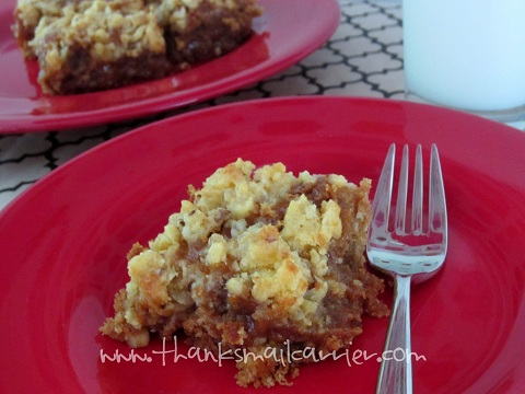 Musselman's caramel apple crumble bars recipe