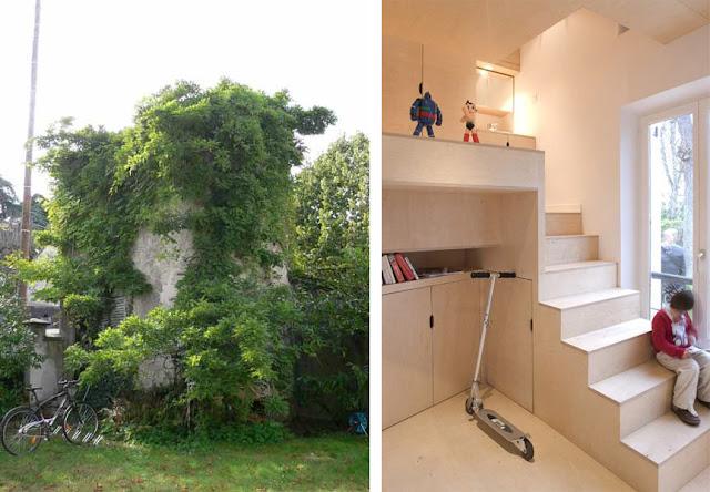 Una casa en el jard n un mueble de madera habitado - Casa muebles de jardin ...