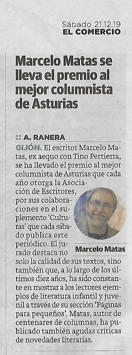 Premio de la Crítica de Asturias de Columnismo Periodístico