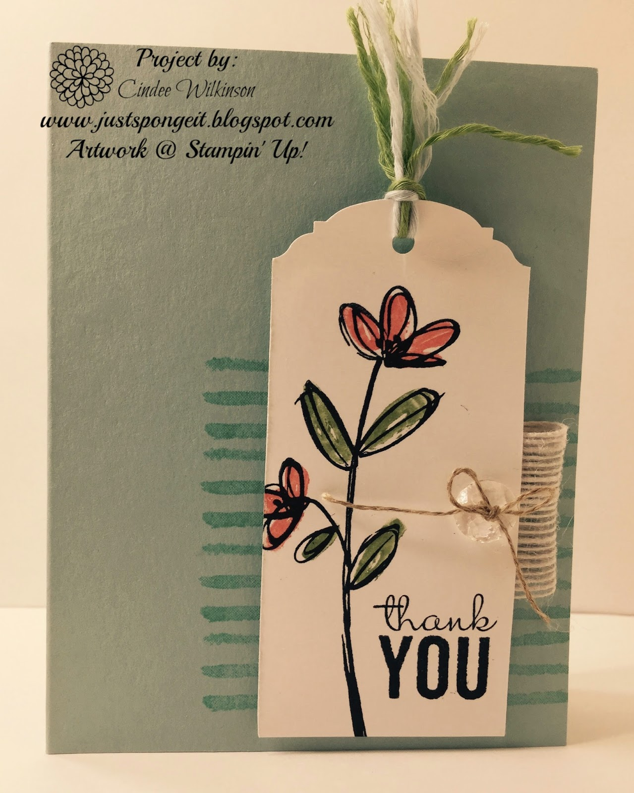 Cased Cards From Stampin Success Just Sponge It