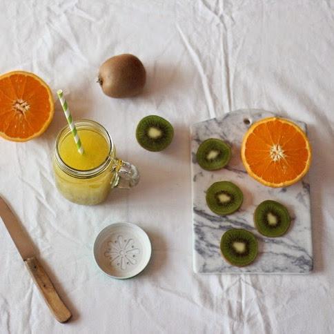 Koktajl pomarańcza + kiwi