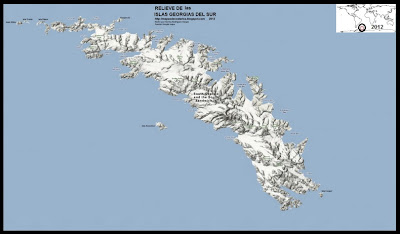 Mapa de Relieve de Las ISLAS GEORGIAS DEL SUR, Google Maps